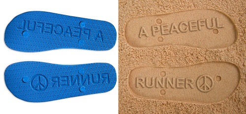 Peaceful Runner Flip Flops