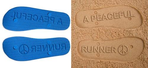 Peaceful Runner Flip Flops